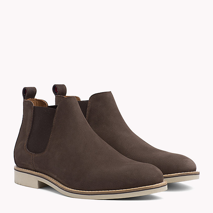 TOMMY HILFIGER Suede Chelsea Boots - MIDNIGHT - TOMMY HILFIGER Schoenen - main image