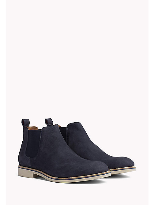 TOMMY HILFIGER Suede Chelsea Boots - MIDNIGHT - TOMMY HILFIGER Shoes - main image