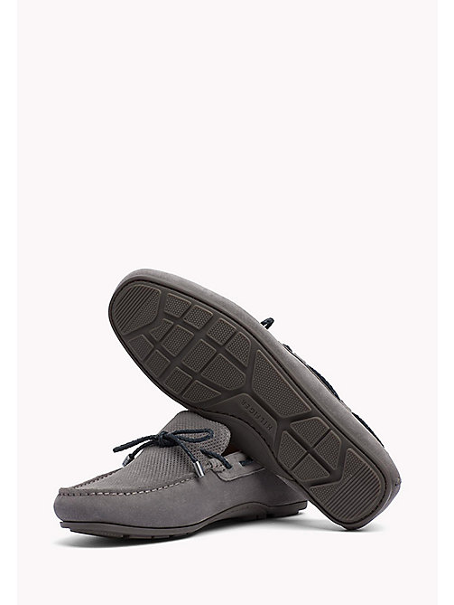 TOMMY HILFIGER Wildleder-Loafer mit Schnürung - STEEL GREY - TOMMY HILFIGER Mokassins - main image 1