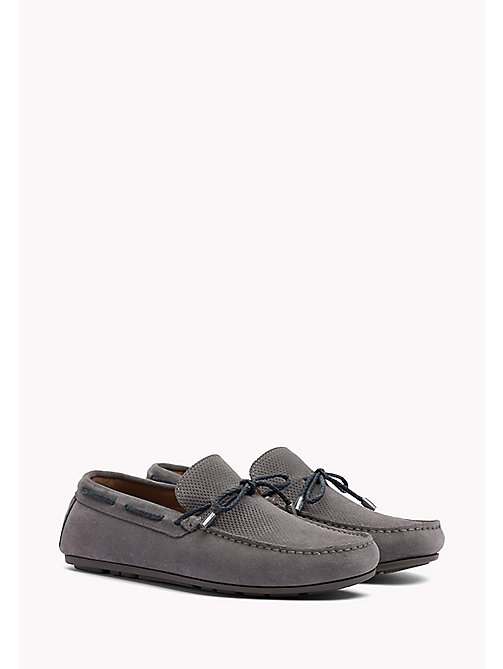 TOMMY HILFIGER Wildleder-Loafer mit Schnürung - STEEL GREY - TOMMY HILFIGER Mokassins - main image