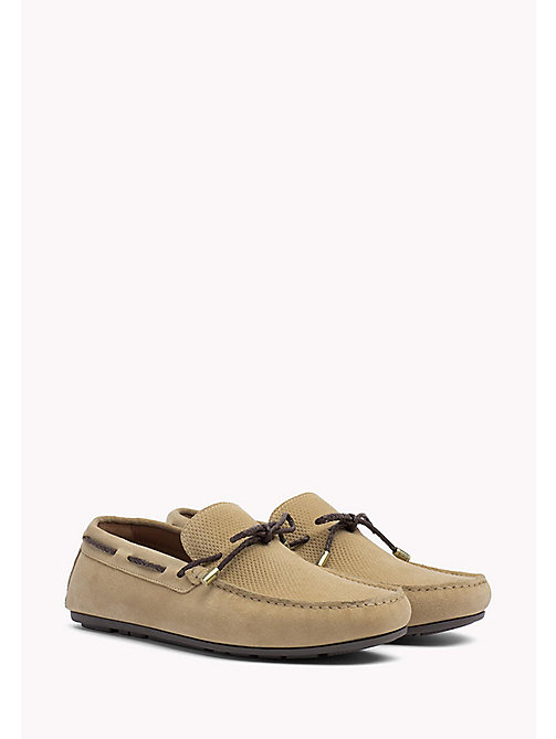 TOMMY HILFIGER Suede Lace Loafers - SAND - TOMMY HILFIGER Loafers & Boat Shoes - main image