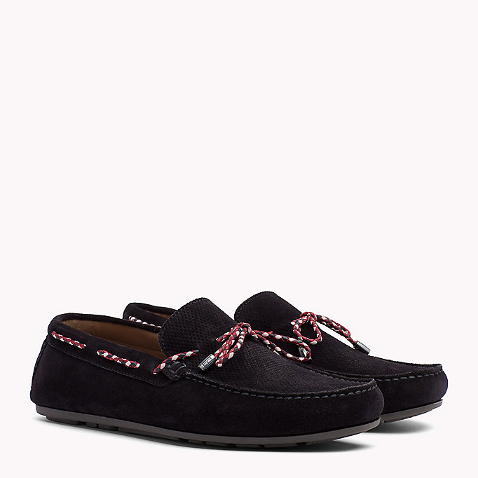 TOMMY HILFIGER Suede Lace Loafers - STEEL GREY - TOMMY HILFIGER Men - main image