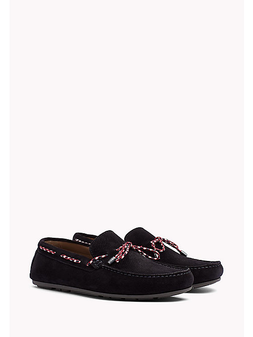 TOMMY HILFIGER Suede Lace Loafers - MIDNIGHT - TOMMY HILFIGER Loafers & Boat Shoes - main image