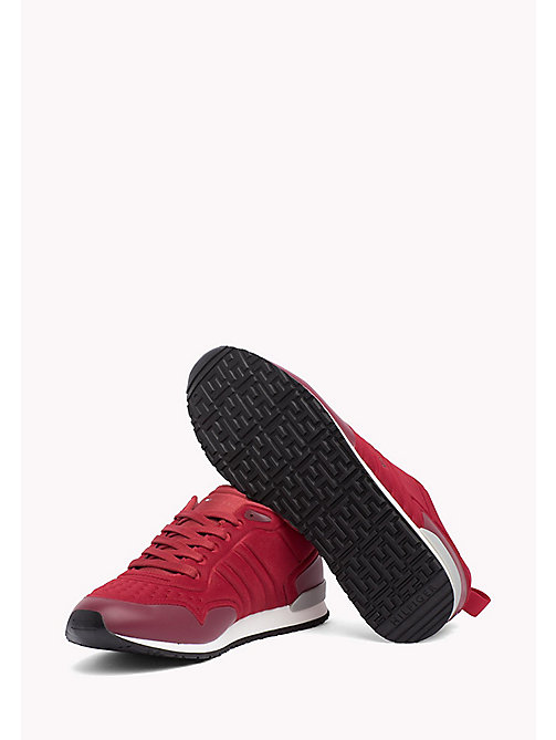 TOMMY HILFIGER Neoprene Low-Cut Trainers - TANGO RED - TOMMY HILFIGER Shoes - detail image 1