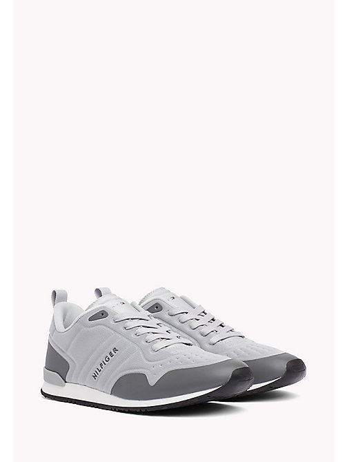 TOMMY HILFIGER Neoprene Low-Cut Trainers - LIGHT GREY-STEEL GREY - TOMMY HILFIGER Trainers - main image