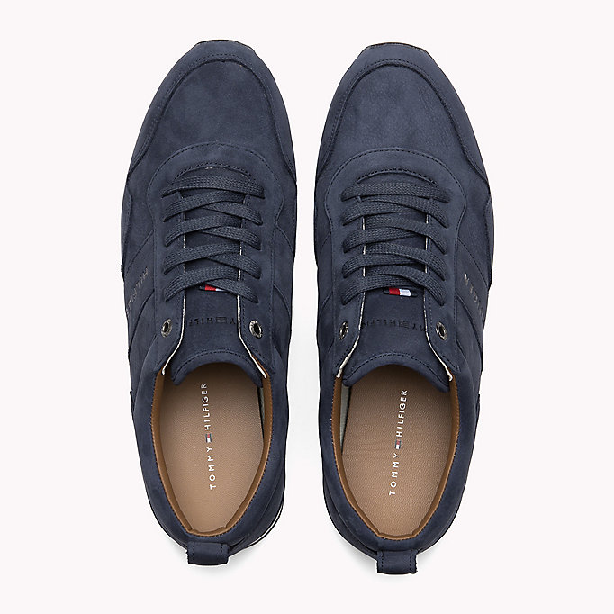 TOMMY HILFIGER Iconic Nubuck Trainers - SAND - TOMMY HILFIGER Shoes - detail image 3