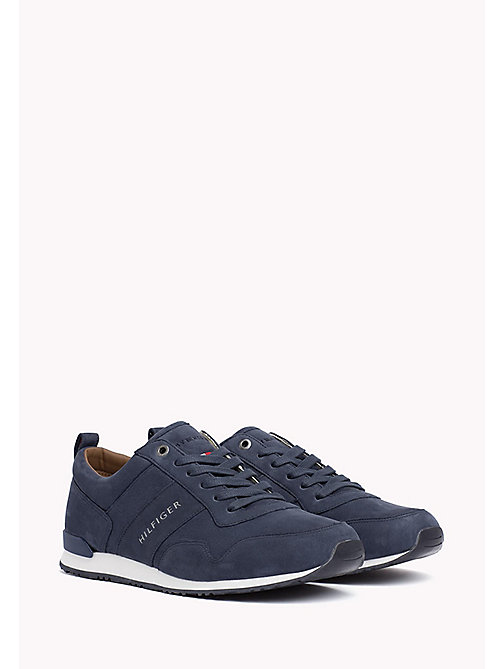 Iconic Nubuck Trainers - VINTAGE INDIGO - TOMMY HILFIGER Shoes - main image