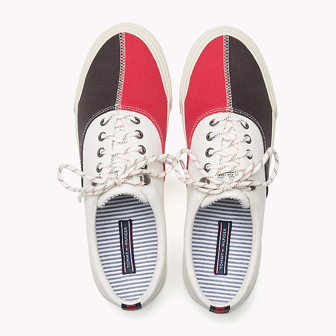 TOMMY HILFIGER Textile Sailing Sneaker - MIDNIGHT - MONACO BLUE - WHISPER WHITE - TOMMY HILFIGER Men - detail image 3