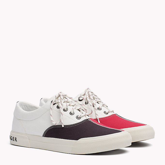 TOMMY HILFIGER Textile Sailing Sneaker - MIDNIGHT - MONACO BLUE - WHISPER WHITE - TOMMY HILFIGER Men - main image