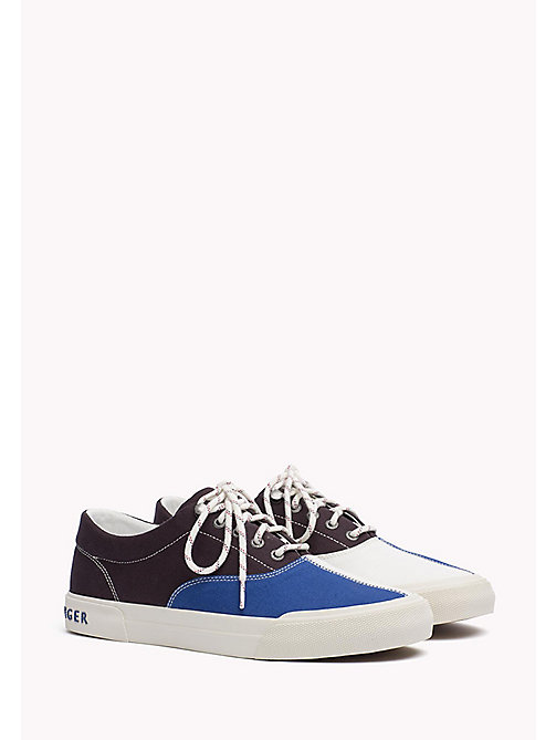 TOMMY HILFIGER Textile Sailing Sneaker - MIDNIGHT - MONACO BLUE - WHISPER WHITE - TOMMY HILFIGER Shoes - main image