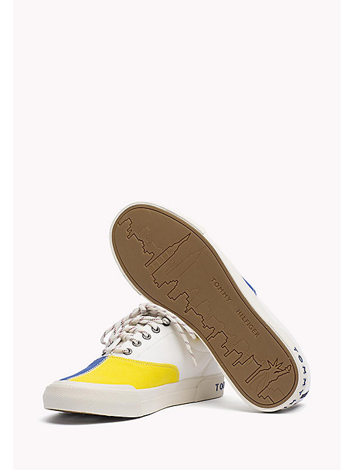 TOMMY HILFIGER Textile Sailing Sneaker - WHISPER WHITE - MONACO BLUE - FREESIA - TOMMY HILFIGER Shoes - detail image 1