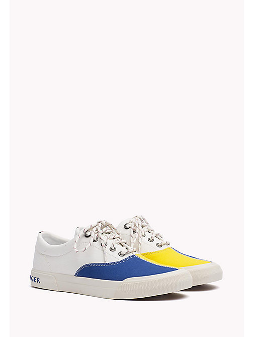 TOMMY HILFIGER Textile Sailing Sneaker - WHISPER WHITE - MONACO BLUE - FREESIA - TOMMY HILFIGER Shoes - main image