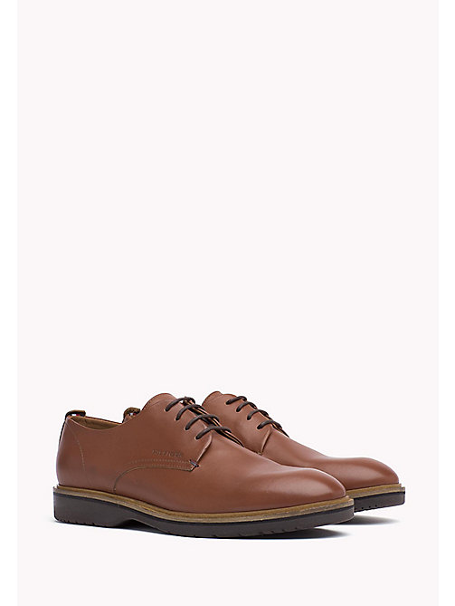 Leather Lace-Up Shoe - BRANDY - TOMMY HILFIGER Shoes - main image