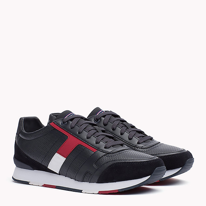 TOMMY HILFIGER Leather Sneaker - WHITE - TOMMY HILFIGER Shoes - main image