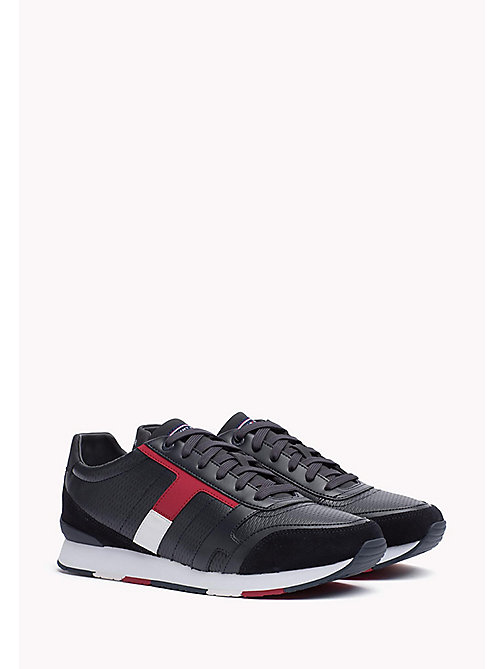 TOMMY HILFIGER Leather Sneaker - RWB - TOMMY HILFIGER Best Sellers - main image