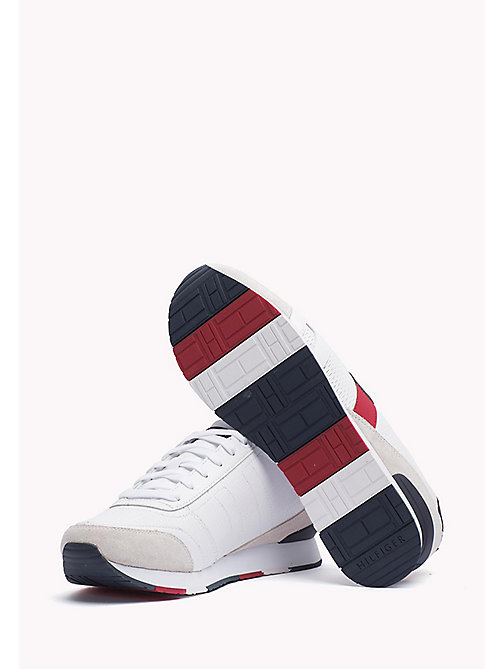 Leather Sneaker - WHITE - TOMMY HILFIGER Shoes - detail image 1