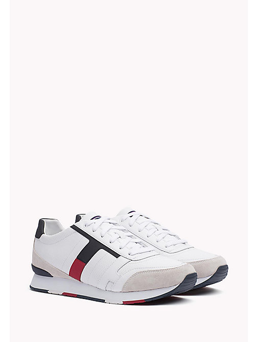 TOMMY HILFIGER Leather Sneaker - WHITE - TOMMY HILFIGER Best Sellers - main image
