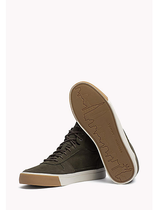 TOMMY HILFIGER Nubuck High Top Sneaker - OLIVE NIGHT - TOMMY HILFIGER Best Sellers - detail image 1