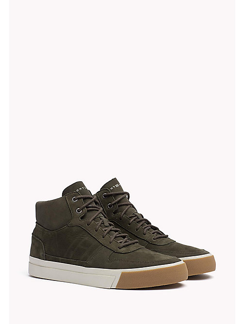 TOMMY HILFIGER Nubuck High Top Sneaker - OLIVE NIGHT - TOMMY HILFIGER Best Sellers - main image