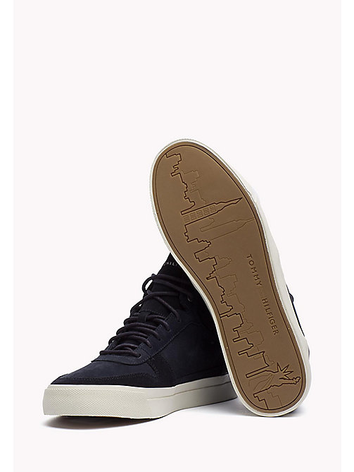 Nubuck High Top Sneaker - MIDNIGHT - TOMMY HILFIGER Shoes - detail image 1