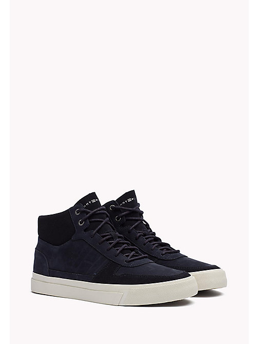 TOMMY HILFIGER Nubuck High Top Sneaker - MIDNIGHT - TOMMY HILFIGER Trainers - main image