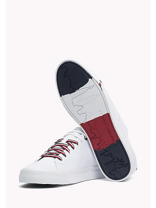 TOMMY HILFIGER Canvas sneaker - WHITE - TOMMY HILFIGER Sneakers - detail image 1