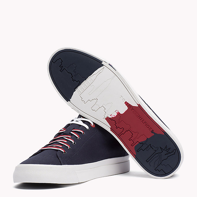 TOMMY HILFIGER Canvas Sneaker - WHITE - TOMMY HILFIGER Men - detail image 1