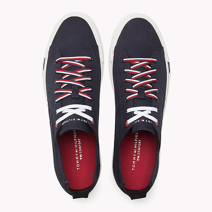 TOMMY HILFIGER Canvas Sneaker - WHITE - TOMMY HILFIGER Men - detail image 3