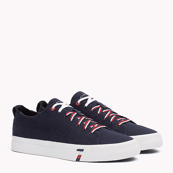 TOMMY HILFIGER Canvas Sneaker - WHITE - TOMMY HILFIGER Shoes - main image