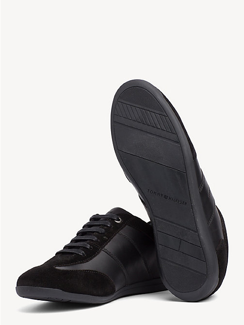 TOMMY HILFIGER Leather and Suede Trainers - BLACK - TOMMY HILFIGER Shoes - detail image 1