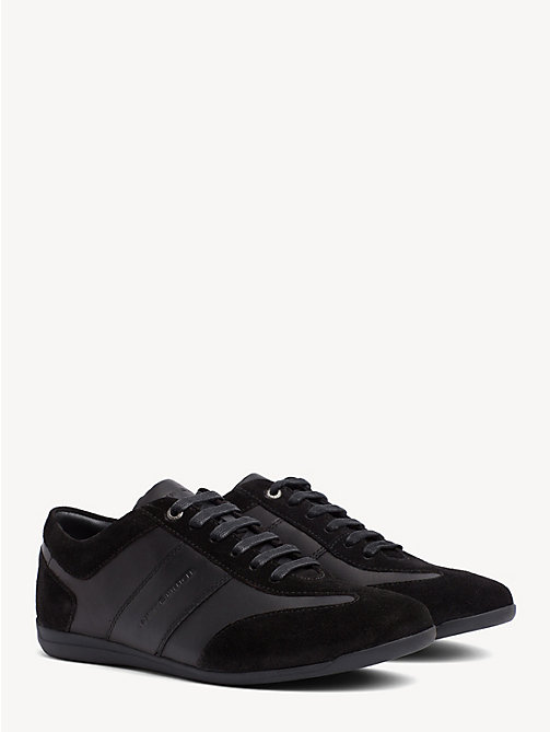 TOMMY HILFIGER Leather and Suede Trainers - BLACK - TOMMY HILFIGER Trainers - main image