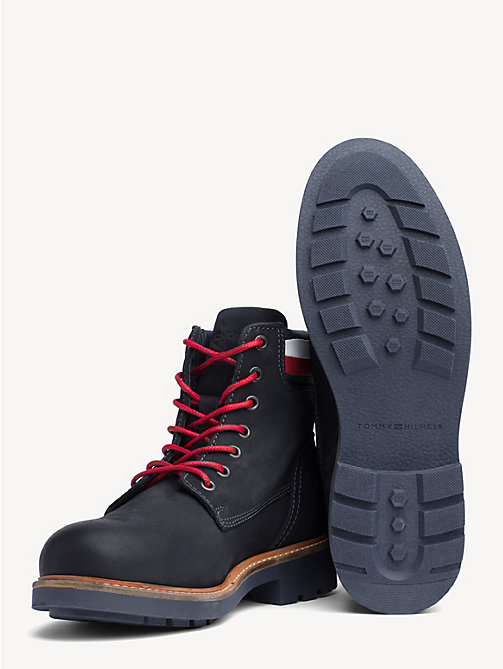 TOMMY HILFIGER Nubuck Boot - MIDNIGHT - TOMMY HILFIGER Lace-Up Boots - detail image 1