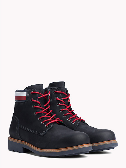 TOMMY HILFIGER Nubuck Boot - MIDNIGHT - TOMMY HILFIGER Lace-Up Boots - main image