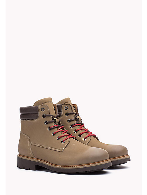 TOMMY HILFIGER Nubuck Boot - SAND -  Lace-Up Boots - main image