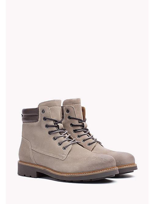 TOMMY HILFIGER Suede Boot - COBBLESTONE - TOMMY HILFIGER Lace-Up Boots - main image