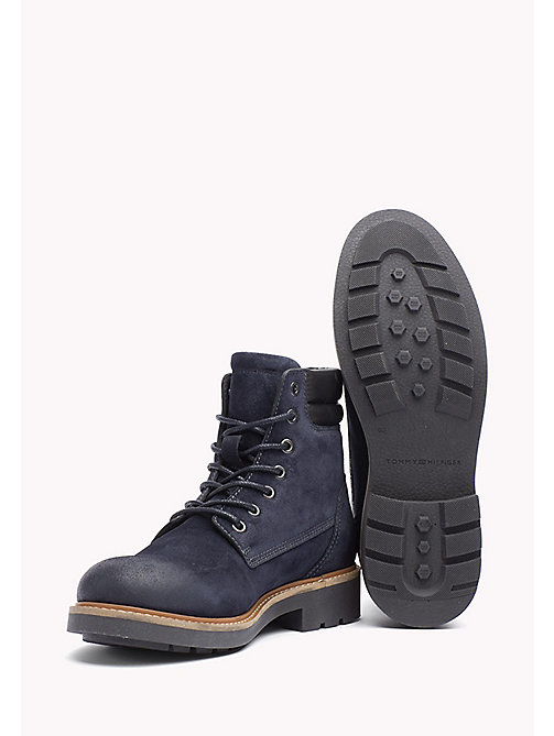 TOMMY HILFIGER Suede Boot - MIDNIGHT -  Lace-Up Boots - detail image 1
