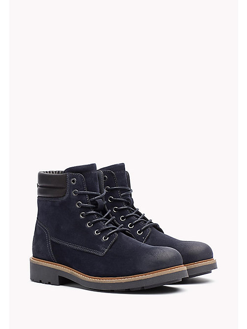 TOMMY HILFIGER Suede Boot - MIDNIGHT -  Lace-Up Boots - main image
