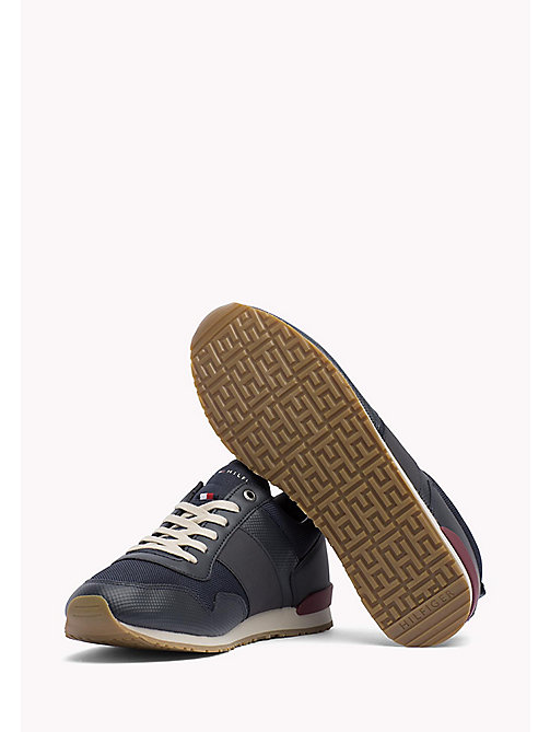 TOMMY HILFIGER Mesh Mix Trainers - MIDNIGHT - TOMMY HILFIGER Shoes - detail image 1