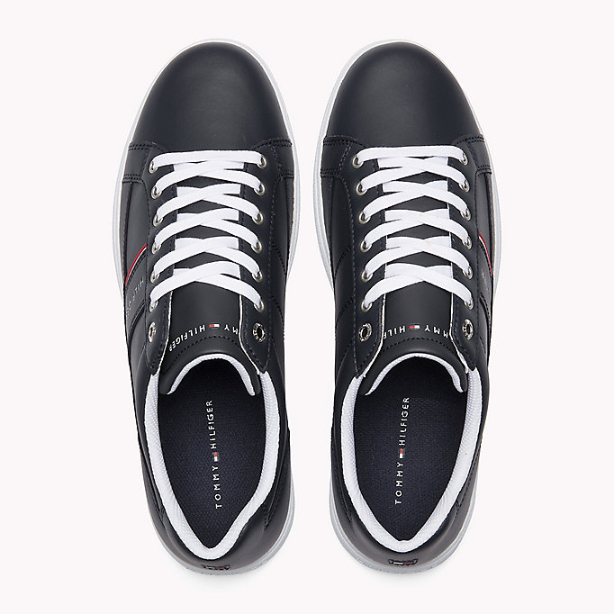 TOMMY HILFIGER Classic Leather Trainers - WHITE - TOMMY HILFIGER Men - detail image 3