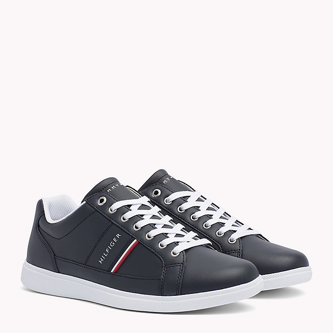 TOMMY HILFIGER Sneakers in pelle - WHITE - TOMMY HILFIGER Scarpe - immagine principale