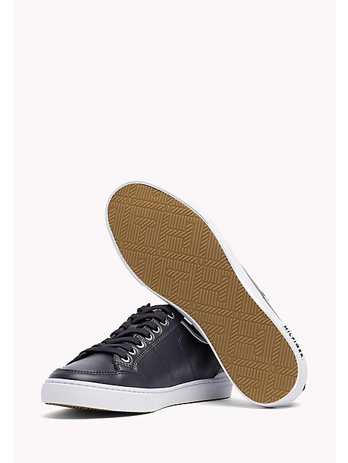 TOMMY HILFIGER Perforated Leather Trainers - MIDNIGHT - TOMMY HILFIGER Sneakers - detail image 1