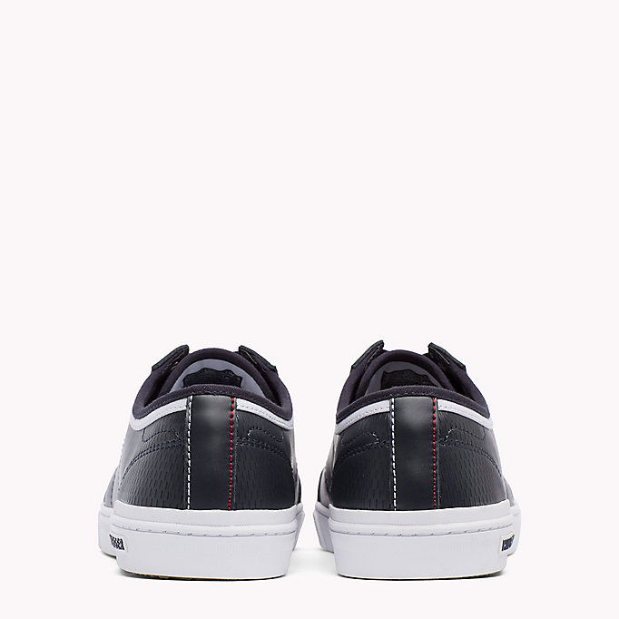 TOMMY HILFIGER Perforated Leather Trainers - WHITE - TOMMY HILFIGER Men - detail image 2