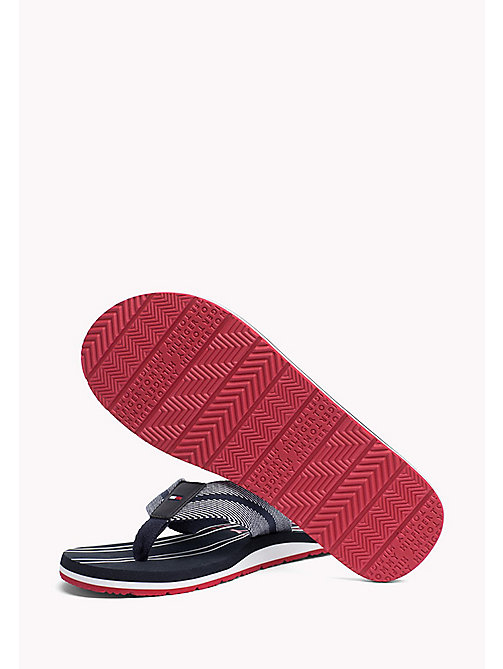 TOMMY HILFIGER Stripe Flip-Flops - MIDNIGHT - TOMMY HILFIGER Summer shoes - detail image 1