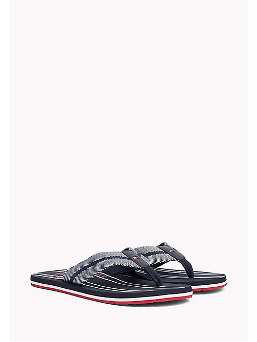 TOMMY HILFIGER Stripe Flip-Flops - MIDNIGHT - TOMMY HILFIGER Summer shoes - main image