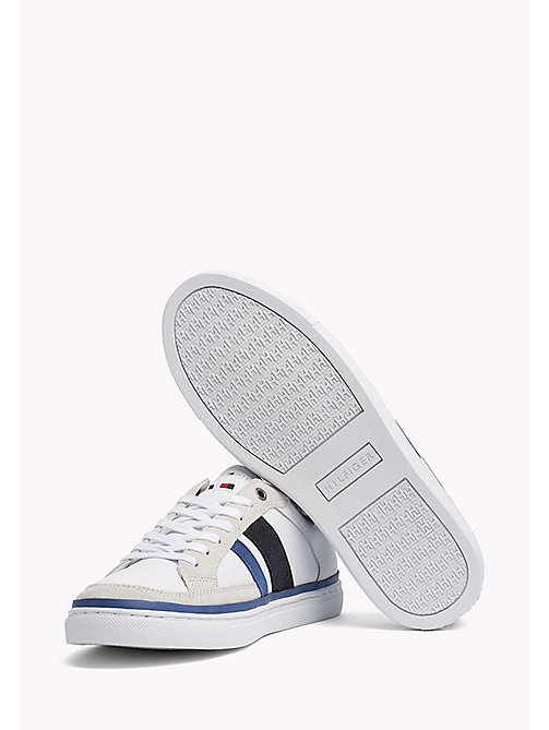 TOMMY HILFIGER Leather Sneaker - MIDNIGHT-MONACO BLUE-WHITE -  Shoes - detail image 1