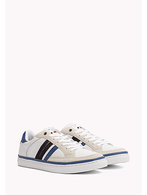 TOMMY HILFIGER Leather Sneaker - MIDNIGHT-MONACO BLUE-WHITE - TOMMY HILFIGER Shoes - main image