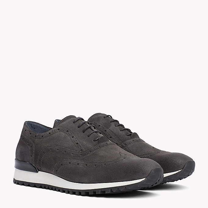 TOMMY HILFIGER Suede Lace-Up Trainers - COFFEE BEAN - TOMMY HILFIGER Men - main image