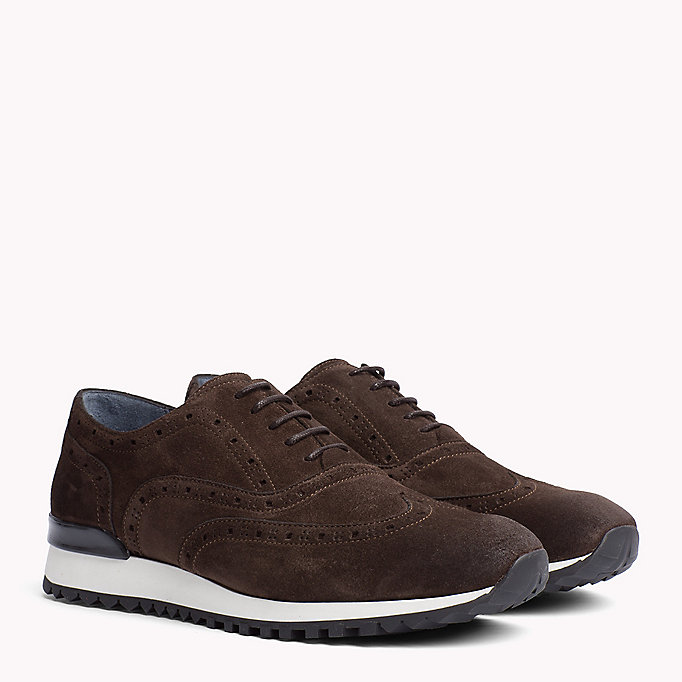 TOMMY HILFIGER Suede Lace-Up Trainers - MIDNIGHT - TOMMY HILFIGER Men - main image