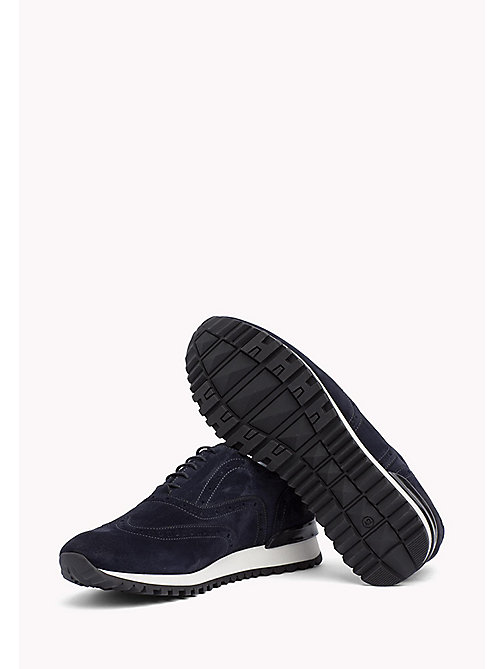 Suede Lace-Up Trainers - MIDNIGHT - TOMMY HILFIGER Shoes - detail image 1