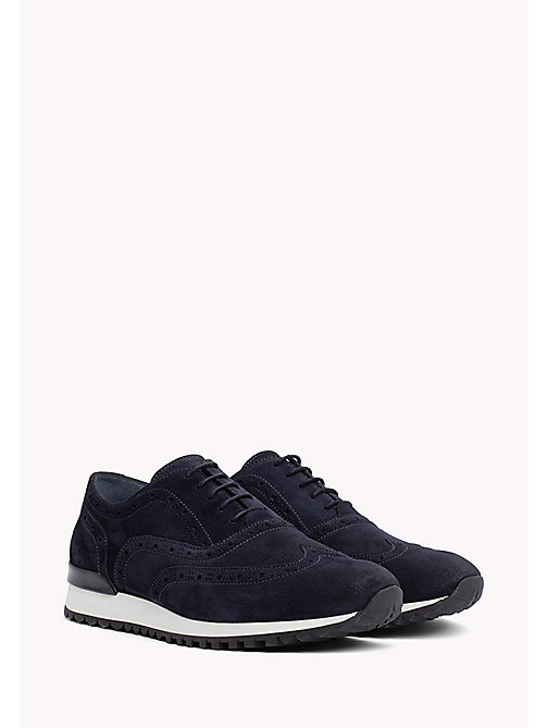 Suede Lace-Up Trainers - MIDNIGHT - TOMMY HILFIGER Shoes - main image